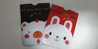Ezlink, card plastic bunny bear black red holder