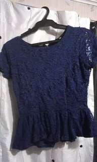 Forever 21 naby blue top