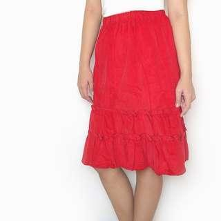 SALE! Red Knee Length Holiday Christmas Skirt