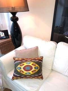 New silk ikat cushion covers