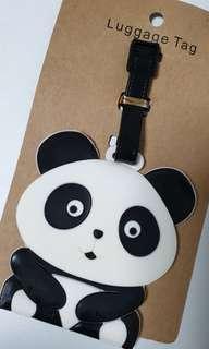 Panda black white Luggage tag