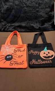 NEW Trick or Treat / Happy Halloween Party Loot Tote Bags