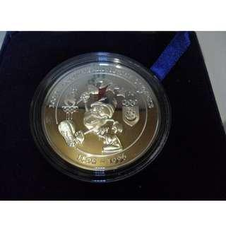 1996 Singapore 100th Anniversary of the Olympics 41g Silver Proof Medallion