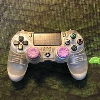 Ds4 dualshock 4 clear version like new!