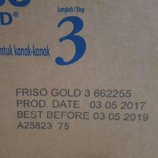 1 carton of Friso Gold 3