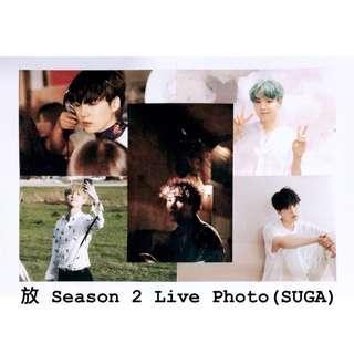 BTS展覽season 2 live photo (SUGA)