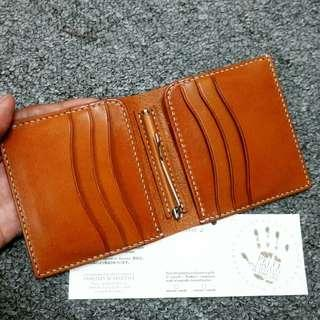 IHC classic italian buttero leather moneyclip wallet