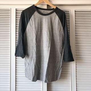 Forever 21 Men Charcoal and Light Grey Long Sleeved Shirt