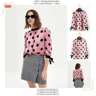 Pink Big Dotted