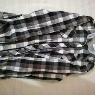 {REDUCED} Black and White Checkered Top
