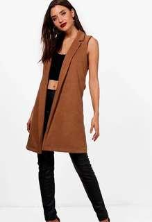 Camel Vest From BooHoo Size S