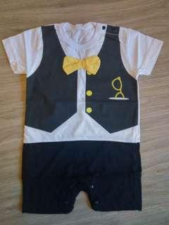 🚚 [PRICE REDUCED] Baby Boy Romper with bow tie