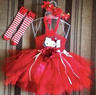 Red Hello Kitty Tutu Set