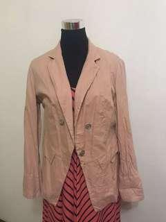 PRE-OWNED: Peach Blazer (XL)