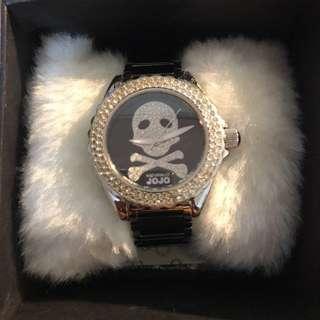 🚚 NATURALLY JOJO 骷顱陶瓷晶鑽腕錶