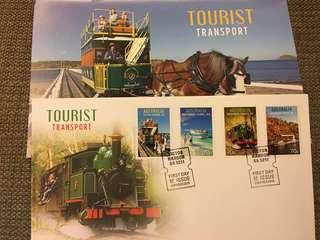 澳洲 tourist transport 火車 郵票 小全張