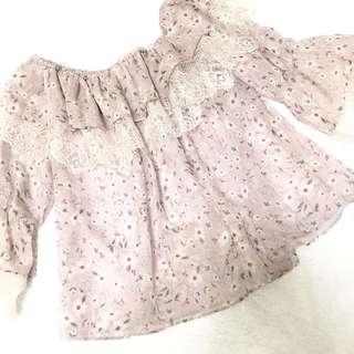 全新日本雪紡上衣 / Chiffon lace top