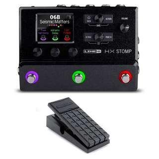 Line 6 HX Stomp multi-effects floor processor + $51 EX1 expression pedal (NEW!!) (in stock, last 3 sets)