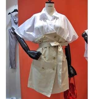 (全新/售價含運費)超級好看的連身套裝 連身裙 假兩件 免運