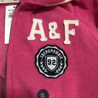 全新A&F zip up hoodies jacket 有帽外套