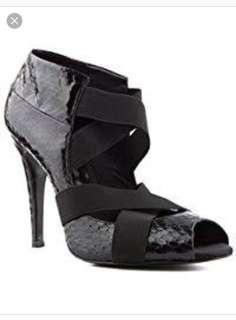Authentic BOURNE Black Strap High Heels