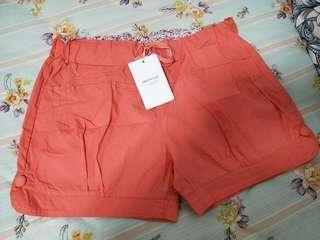 大碼 粉橘色短褲XL