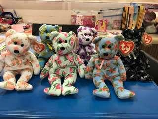 TY Beanie Babies Exclusive Flower series Asia Pacific