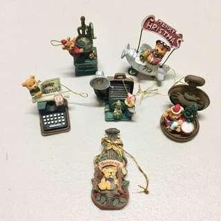 🎄Set of 6 Vintage miniature Ornaments🎄