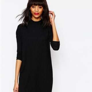 🚚 MONKI Mock Neck Midi Dress