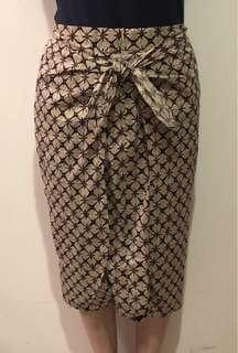New Never Worn Brown Batik Skirt