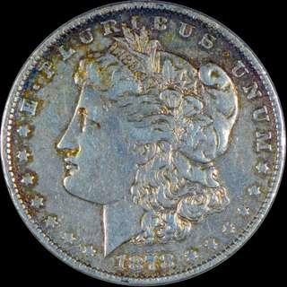 1878 Morgan Dollar, 7 tail feather