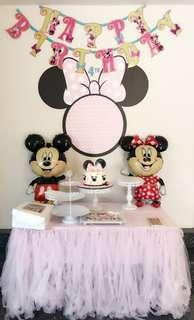 Minnie Mouse Die Cut Wall Photo Dessert Table Backdrop for Any Occasions