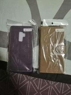 S9 plus flip case for sale brown and purple