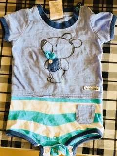 Preloved Baby Romper-Blue-Boy (3 to 6 months)