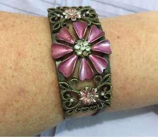Beautiful Floral Cuff Bracelet