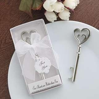 PREORDER: Wedding favors/ party gifts: 2 hearts bottle opener