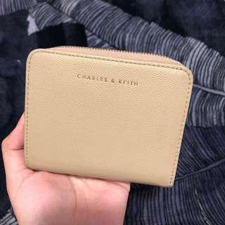 Charles & Keith Zipped Small Wallet (Taupe)