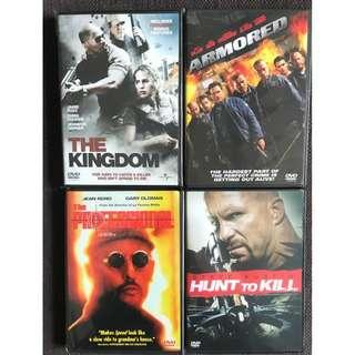 DVDs - Set of 4 (The Kingdom / Armored / The Professional / Hunt to Kill)