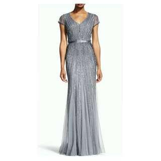 Adrianna Papell Gown for Rent Big Size