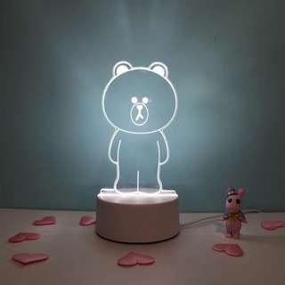 PO: Night Table Lamp Light
