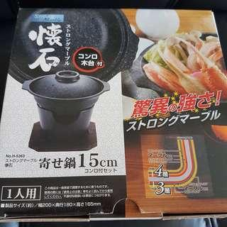 Strong Marble Japanese cooking pot