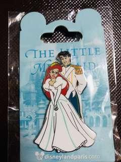 Disneyland Resort Paris pin 法國巴黎迪士尼徽章襟章 Pin Ariel美人魚 & Eric oe Disney pin