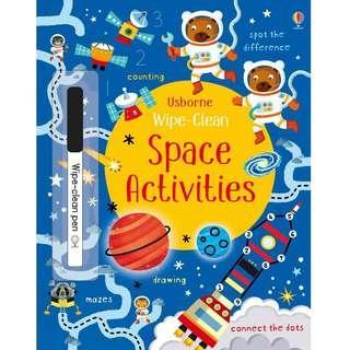 🚚 (BN) Usborne: Wipe-Clean Space Activities