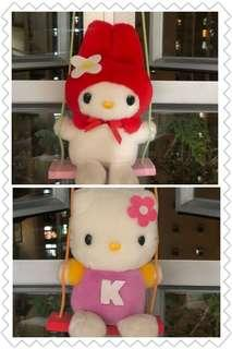 99年 Melody / Hello Kitty 韆鞦公仔