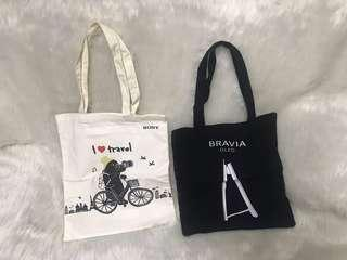 Sony Tote Bag 黑白色一套