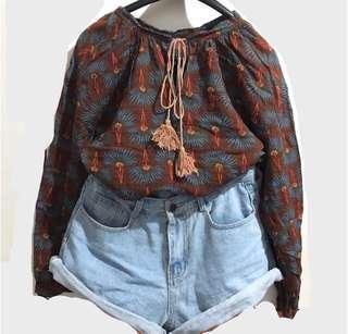 🚚 【上身】秋裝•民族風上衣