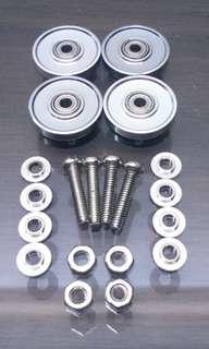 Tamiya Mini 4wd 13mm Aluminium Rollers