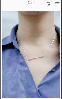StrangerRoom sliver simply line necklace