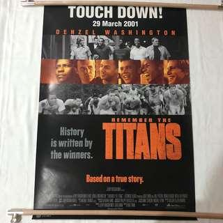 REMEMBER THE TITANS original movie poster