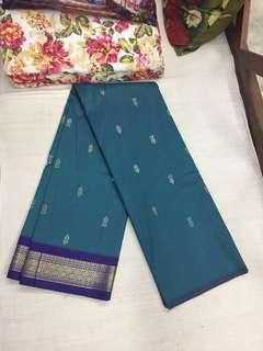 (BN) Deepavali Clearance Sale Only from 9th Oct - 6th November -Blue Bordered Gorgeous Saree